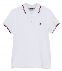 MONCLER - SHORT SLEEVED POLO SHIRT