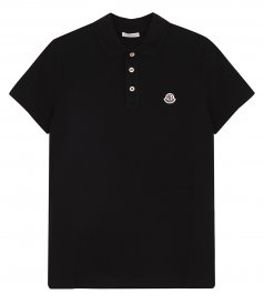 MONCLER - SORT SLEEVED POLO SHIRT