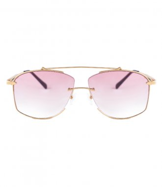 JP JOHN PAN EYEWEAR - GALAXY GOLD METAL ROSE TRANSPARENT