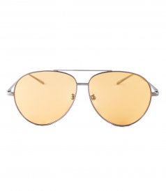JP JOHN PAN EYEWEAR - HORIZON SILVER METAL YELLOW TRANSPARENT AVIATOR