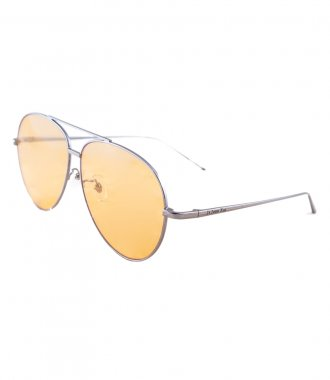 HORIZON SILVER METAL YELLOW TRANSPARENT AVIATOR