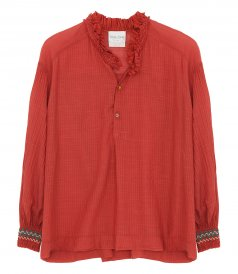 SHIRTS - GAUZY SHIRT WITH EMBROIDERY