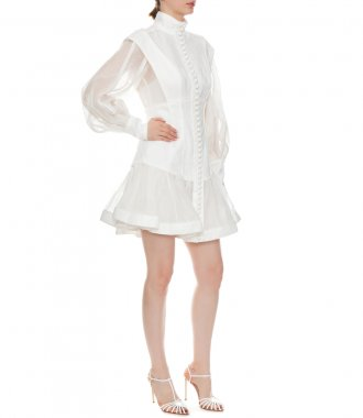 GLASSY LONG SLEEVE MINI DRESS