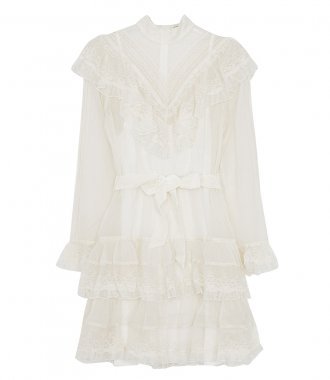 ZIMMERMANN - GLASSY FRILLED LACE MINI DRESS
