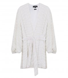CLOTHES - WHITE ZEBRA GABRIELLE ROBE