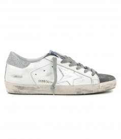 GOLDEN GOOSE  - CRYSTAL HEEL SUPERSTAR SNEAKERS