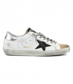 LAMINATED HEEL SUPERSTAR SNEAKERS