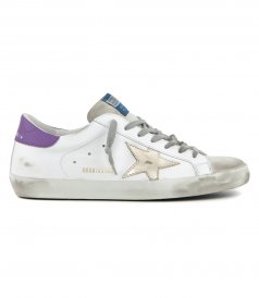 SHOES - PURPLE HEEL SUPERSTAR SNEAKERS