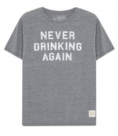 CLOTHES - NEVER DRINKING AGAIN