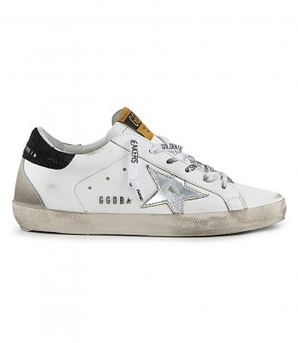 GOLDEN GOOSE  - LAMINATED STAR SUPERSTAR SNEAKERS