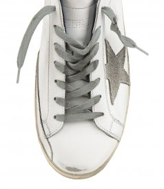 SHINY LEATHER HEEL SUPERSTAR SNEAKERS