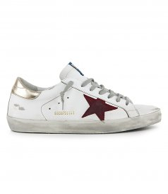 GOLD HEEL SUPERSTAR SNEAKERS