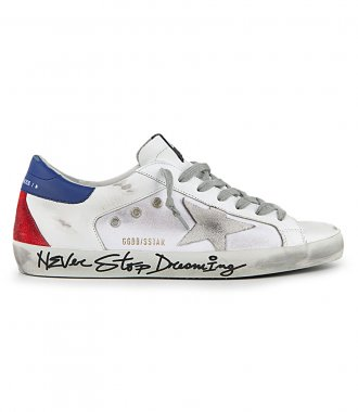 GOLDEN GOOSE  - SIGNATURE FOXING SUPERSTAR SNEAKERS