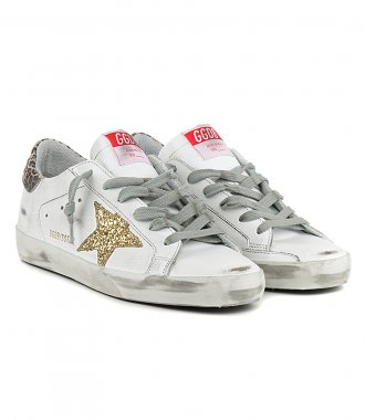 GOLD GLITTER STAR SUPERSTAR SNEAKERS