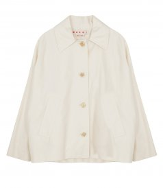 CLOTHES - COTTON AND LINEN DRILL JACKET