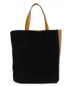 MUSEO SOFT BAG IN SHEARLING
