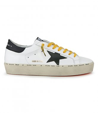 GOLDEN GOOSE  - BLACK STAR HI STAR SNEAKERS