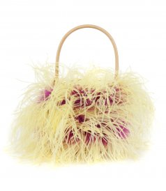 BAGS - SMALL WICKER BUCKETBAG