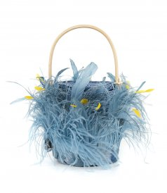 BAGS - MEDIUM WICKER BUCKET BAG