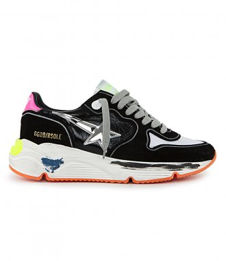 GOLDEN GOOSE  - SHINY LEATHER UPPER RUNNING SOLE SNEAKERS