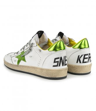LIME STAR BALLSTAR LEATHER SNEAKERS