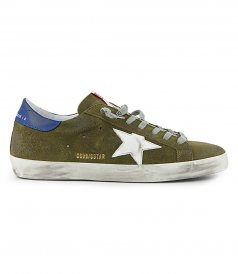 SHOES - GREEN SUEDE SUPERSTAR SNEAKERS