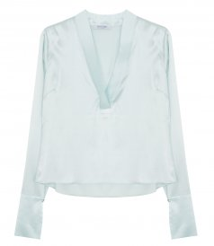 CLOTHES - DEEP V NECKLINE BLOUSE