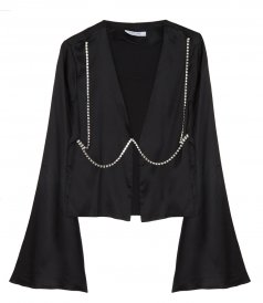 CLOTHES - CRYSTAL CHAIN BLOUSE