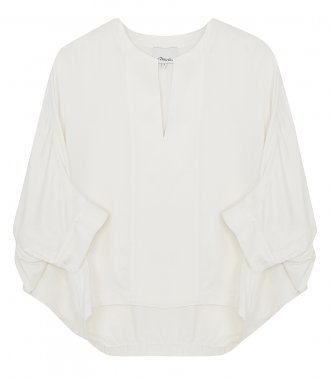 3.1 PHILLIP LIM - DOLMAN SLEEVE COTTON POPLIN TOP