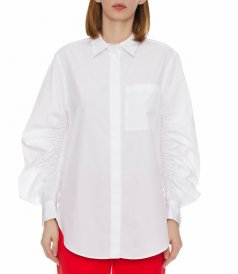 SHIRT WITH GATHERED SLEEVES