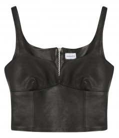 CLOTHES - LEATHER TOP