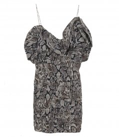 CLOTHES - SNAKE PRINT DRESS