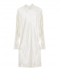 CLOTHES - HIGH-NECK SILK SHIFT DRESS