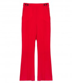 CLOTHES - FLARED CROPPED TROUSERS