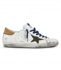 NABUK HEEL SUPERSTAR SNEAKERS