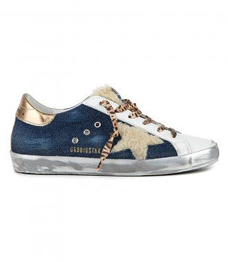 GOLDEN GOOSE  - DENIM SUPERSTAR SNEAKERS