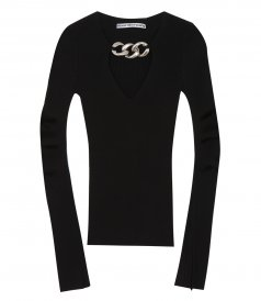 JUST IN - V NECK PULLOVER
