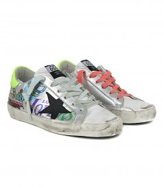 JUST IN - STICKERS PRINT SUPERSTAR SNEAKERS