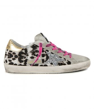 GOLDEN GOOSE  - HORSY LEO SUPERSTAR SNEAKERS