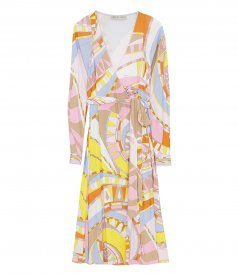 ABSTRACT PRINT WRAP DRESS