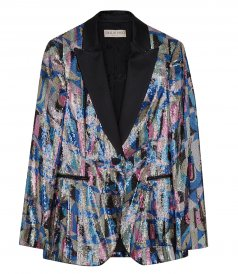 CLOTHES - PATTERNED SEQUINNED BLAZER
