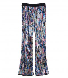 CLOTHES - SEQUIN FLARED TROUSERS