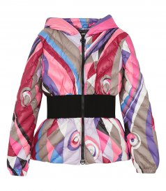 JACKETS - ABSTRACT-PRINT PADDED JACKET