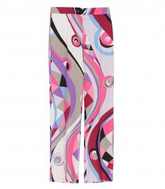 CLOTHES - ABSTRACT-PRINT WIDE-LEG TROUSERS