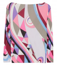 CLOTHES - LONG SLEEVE ABSTRACT-PRINT TOP
