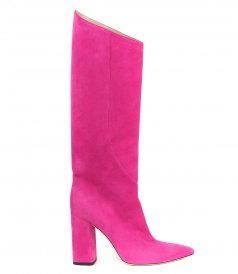 BLOCK-HEEL KNEE-HIGH BOOTS