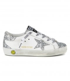 GOLDEN GOOSE  - GLITTER STAR SUPERSTAR SNEAKERS