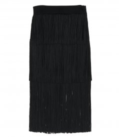 CLOTHES - LAYERED FRINGE MIDI SKIRT