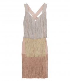 CLOTHES - CROSS-BACK TIERED FRINGE DRESS