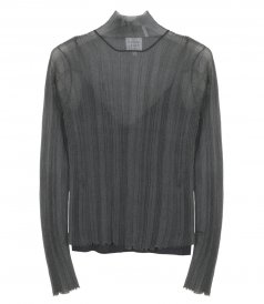 CLOTHES - RIB TURTLENECK LONG SLV TOP